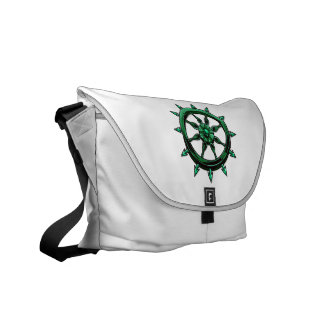 round ships wheel graphic blue green.png courier bag