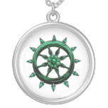 round ships wheel graphic blue green.png pendants