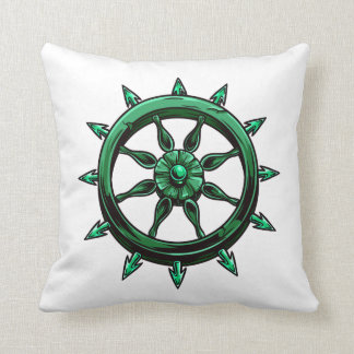 round ships wheel graphic blue green.png pillows