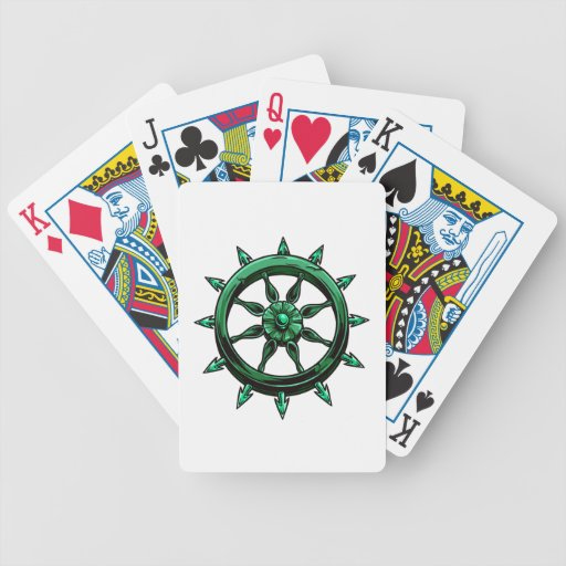 round ships wheel graphic blue green.png bicycle playing cards