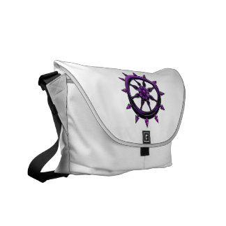 round ships wheel graphic purple.png courier bag