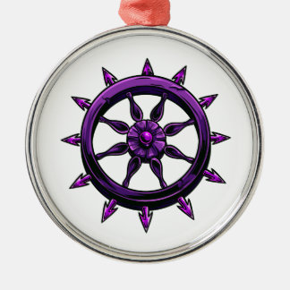 round ships wheel graphic purple.png christmas ornament