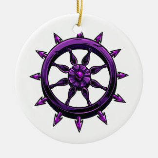 round ships wheel graphic purple.png christmas tree ornament