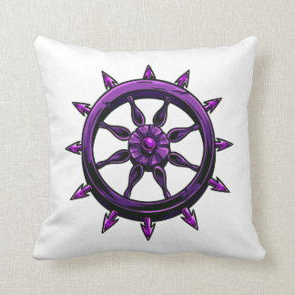 round ships wheel graphic purple.png throw pillow