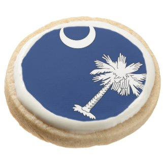 Round Shortbread Cookies - Pack of 4 (SC Flag)