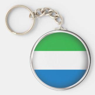 Round Sierra Leone Key Chains