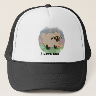 round silly sheep i love you trucker hat