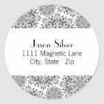 Round Silver Flame Address Labels Classic Round Sticker