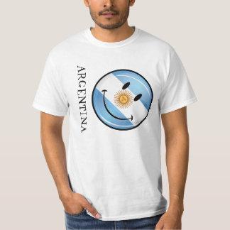 Round Smiling  Argentine Flag T-Shirt