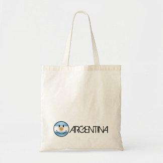 Round Smiling  Argentine Flag Tote Bag
