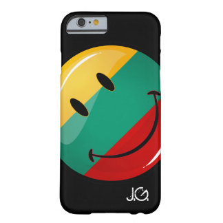 Round Smiling Lithuanian Flag Barely There iPhone 6 Case