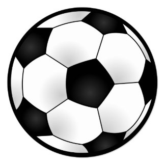 Round Soccer Birthday Party Card