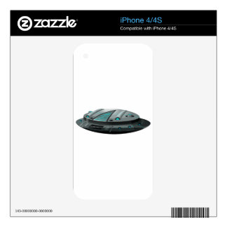 Round spaceship on white background decals for the iPhone 4S