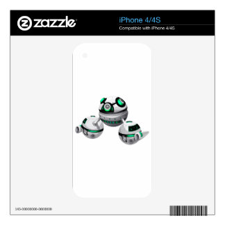 Round spaceship on white background iPhone 4S skins