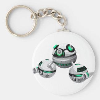 Round spaceship on white background keychain