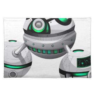 Round spaceship on white background placemat