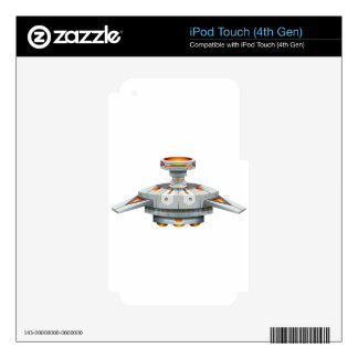 Round spaceship with wings decal for iPod touch 4G