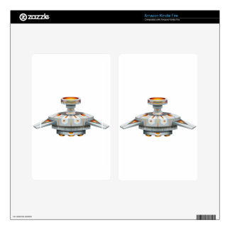 Round spaceship with wings decals for kindle fire