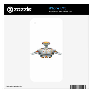 Round spaceship with wings iPhone 4S skins