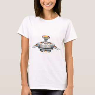 Round spaceship with wings T-Shirt