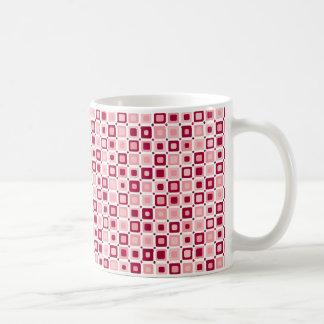 Round Square Pink Pattern Mug