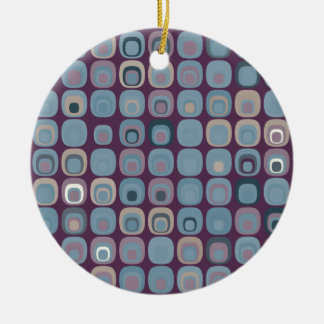 Round Squares Christmas Ornaments