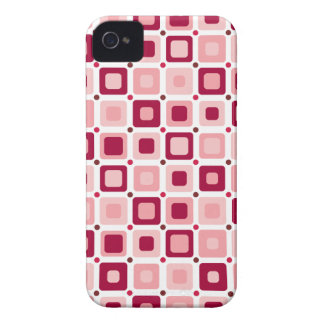Round Squares Pattern Pink Case-Mate iPhone 4 Case