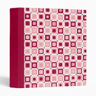 Round Squares Pink Pattern Binder