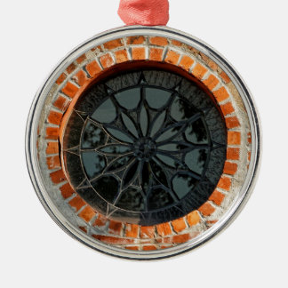 Round Stained Glass Window Christmas Ornament