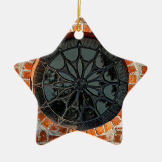 Round Stained Glass Window Christmas Tree Ornaments