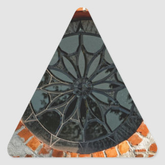 Round Stained Glass Window Triangle Sticker