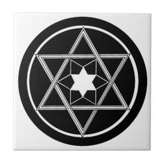Round Star of David Tile