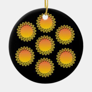 Round Star Ornament