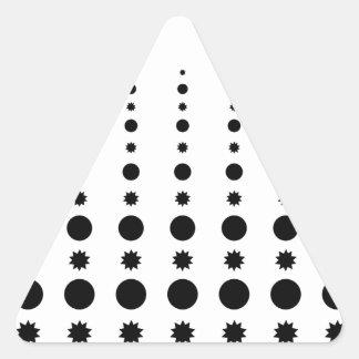 Round & Star shapes Motives.jpg Triangle Sticker