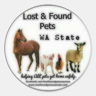 Round Sticker Farm Animals!