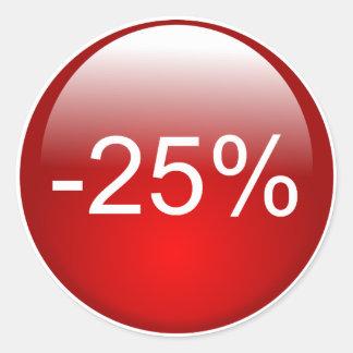 Round sticker for -25% discount
