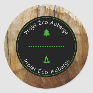 Round sticker I support the Project Éco Auberge