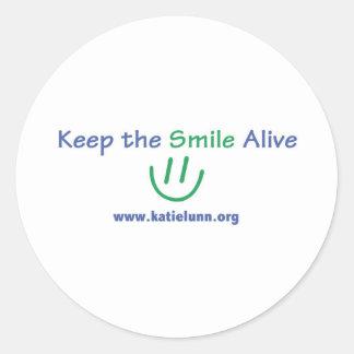 Round Sticker - Keep the Smile Alive