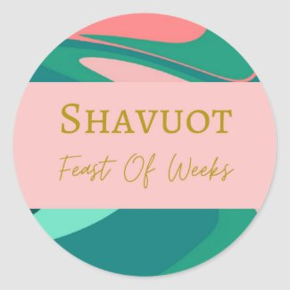 Round Sticker Label Shavuot Feast Of Weeks