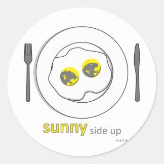 round sticker - sunny side up
