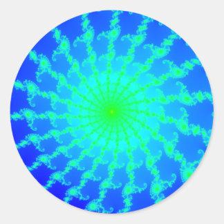 Round Sticker w/ Mandelbrot Fractal