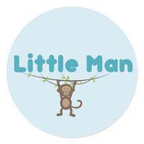 Round sticker with monkey design