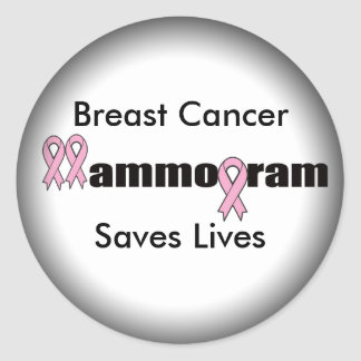 Round Stickers - Breast Cancer Mammogram