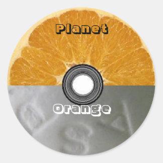 Round Stickers - Planet Orange