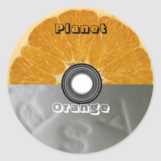 Round Stickers - Planet Orange