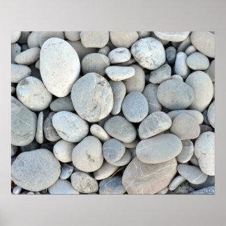 round stone texture rock minerals nature gravel poster