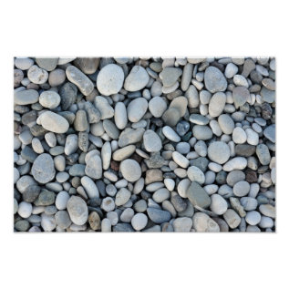 Round Stone Texture Rock Minerals Nature Gravel Poster at Zazzle