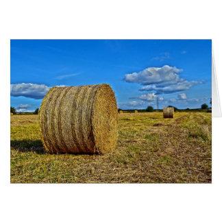 Round Straw Bales Greeting Card