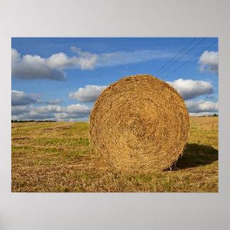 Round Straw Bales Poster 3