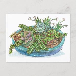 Succulent Painting Cards Zazzle